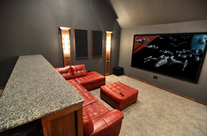 From Attic To Home Theater - Home Theater Dallas